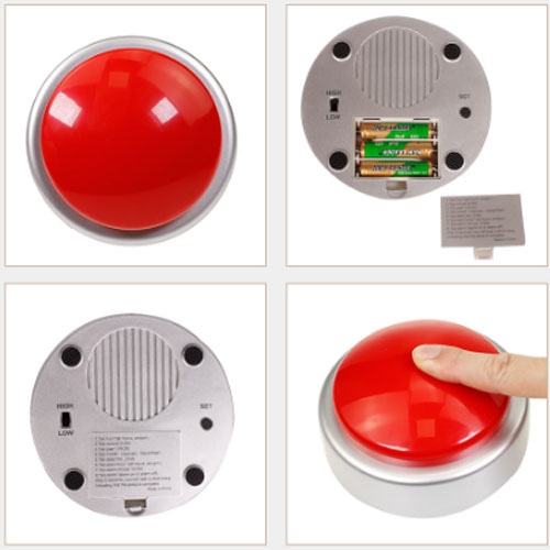 Talking buzzer alarm clock Sound Button Music Box
