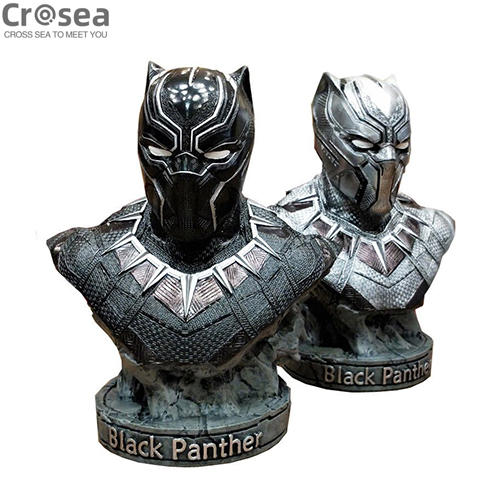 7 inches custom polyresin bust 18cm black panther figurine