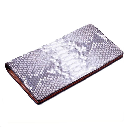 Luxury genuine ostrich skin wallets with flap