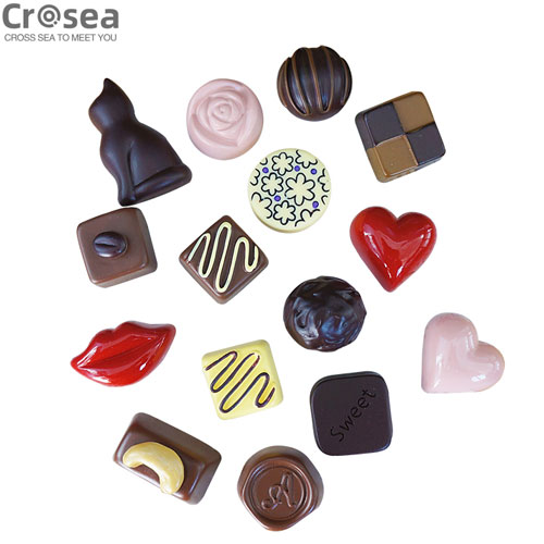 Wholesale Custom resin 3D chocolate fridge magnet