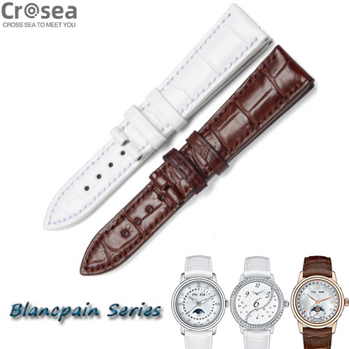 BLANCPAIN Women Villeret Fifty Fathoms Métiers d'Art Series Exclusive Collection Geniune Alligator Watch bands For Replacement