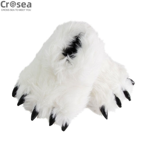 Wholesale Custom Embroidered Plush Slippers Winter Autumn Home Slippers Cute Claw Slippers